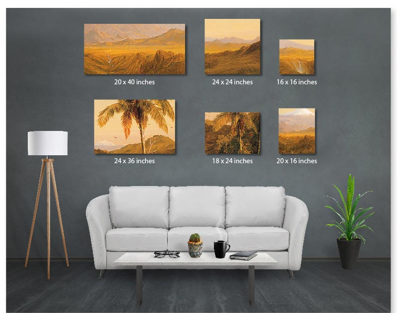 Stretched Canvas with multiple canvas examples Santa Monica